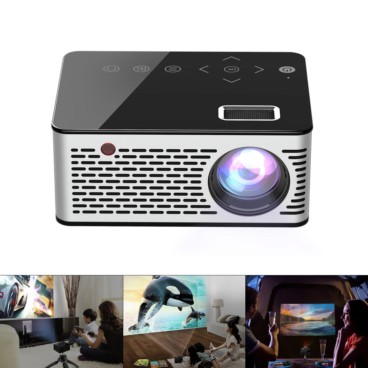 Portable Mini LED LCD Projector