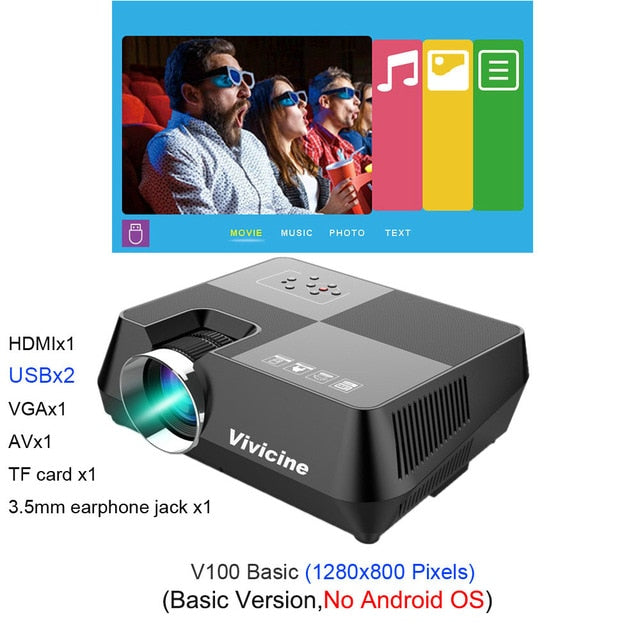 720P HD Projector, Optional