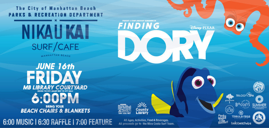 Nikau Kai & The City of Manhattan Beach's Annual Summer Movie Series