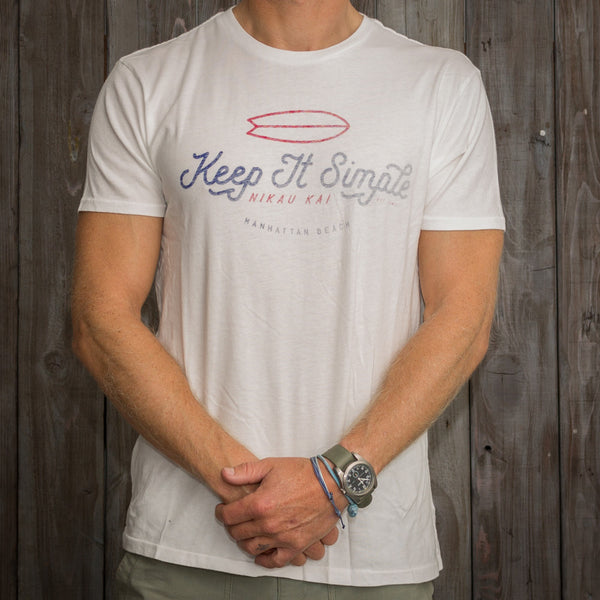 Nikau Kai - Keep It Simple Tee - White