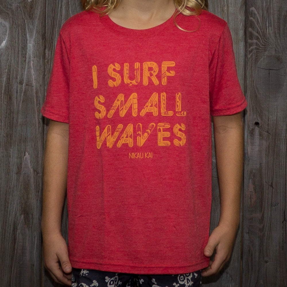 I Surf Small Waves Tee - Grom