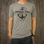 Nikau Kai - Anchor Tee - Heather Grey