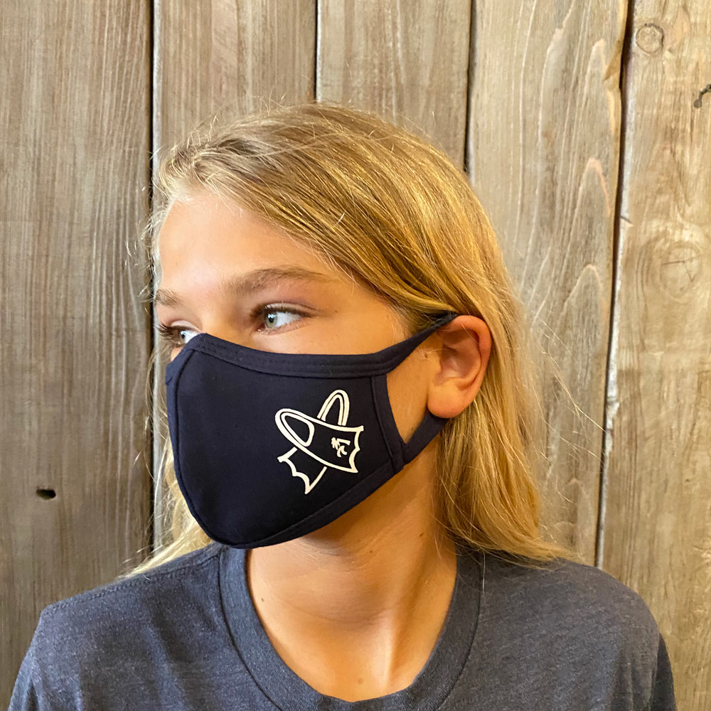 Flippers - Face Mask Youth - Navy
