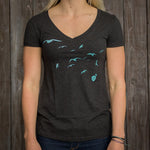 Fly Away Tee - Asphalt - Women's