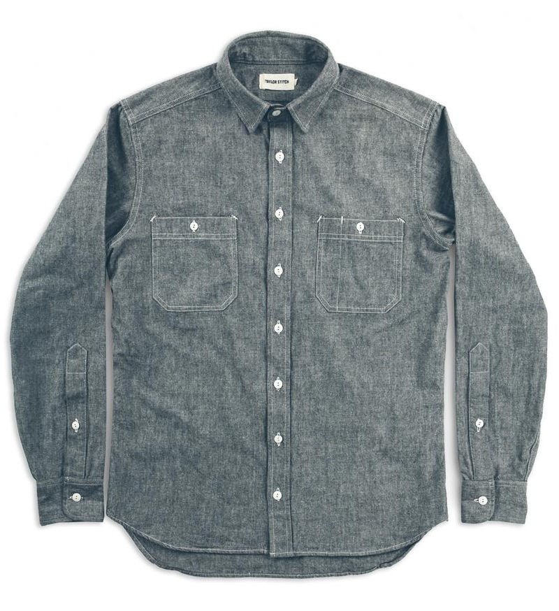 Taylor Stitch - The California in Asphalt Everyday Chambray