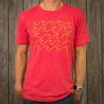 Nikau Kai - Wave Form Tee - Vintage Red
