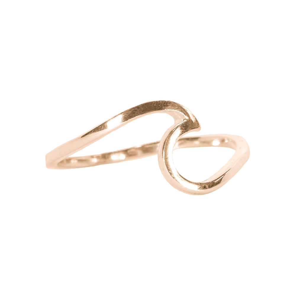 Pura Vida - Wave Ring Rose Gold