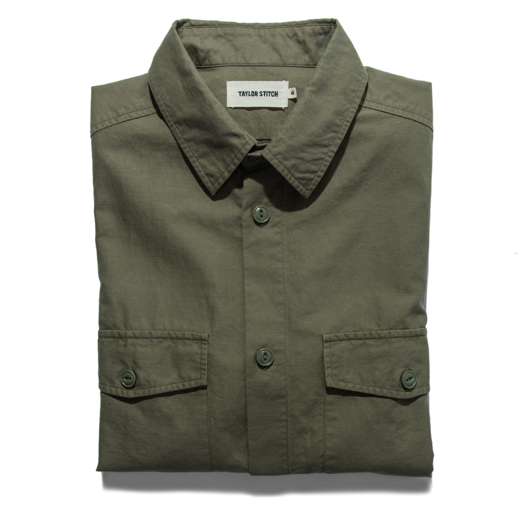 Taylor Stitch - The Point Shirt in Army Hemp