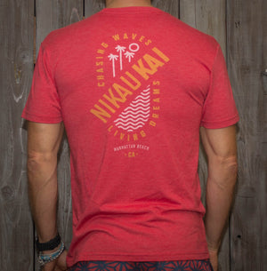 Nikau Kai - Wind Swell Tee - Red