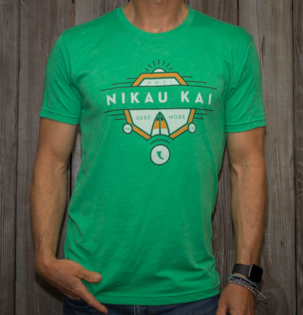Nikau Kai - Surf More Tee - Grass