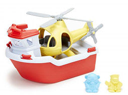 Green Toys - Rescue Boat & Heli Set