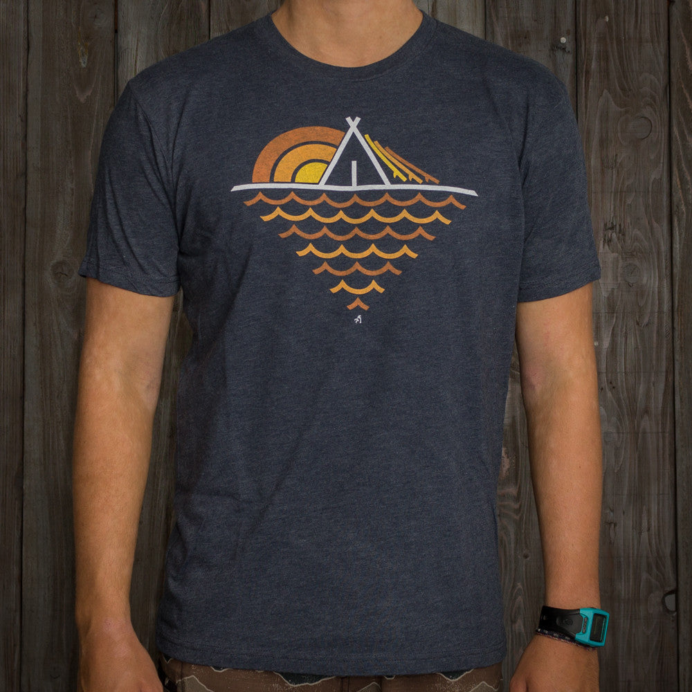 Nikau Kai - Tipi Tee - Heather Navy