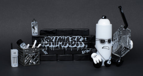 SKI MASK SPRAYCAN B-BOY SET W/ ACCESORIES