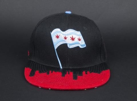 MADE CHICAGO FLAG FITTED