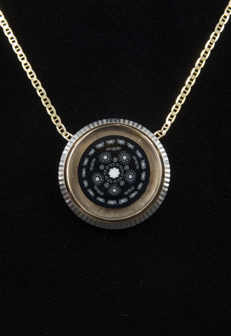 JASON LEE / CAVER ROLEX BEZEL PENDANT W/ MURRINE COIN