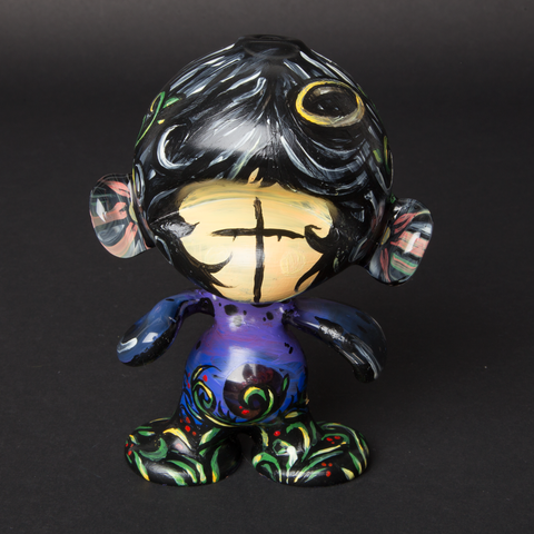 LUDA / MELON HAND PAINTED GLASS MUNNY