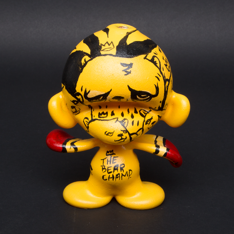 LUDA / JC RIVERA HAND PAINTED GLASS MUNNY