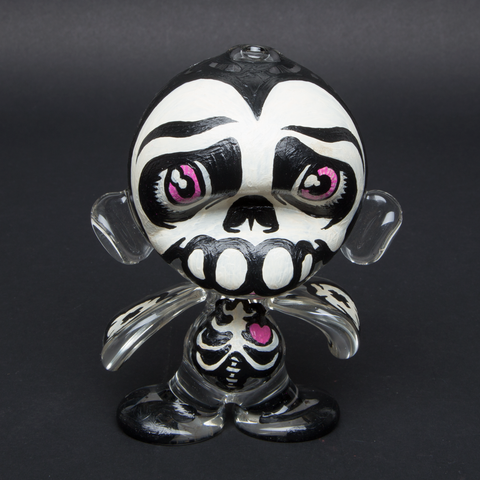 LUDA / BURN 353 HAND PAINTED GLASS MUNNY