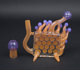 BURTONI / HAMM'S WATERWORKS ANEMONE WINDOWPANE BUBBLER
