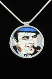 CHRIS JUEDEMANN AL CAPONE MURRINE PORTRAIT PENDANT 1
