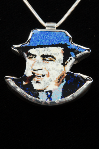 CHRIS JUEDEMANN AL CAPONE MURRINE PORTRAIT PENDANT 2