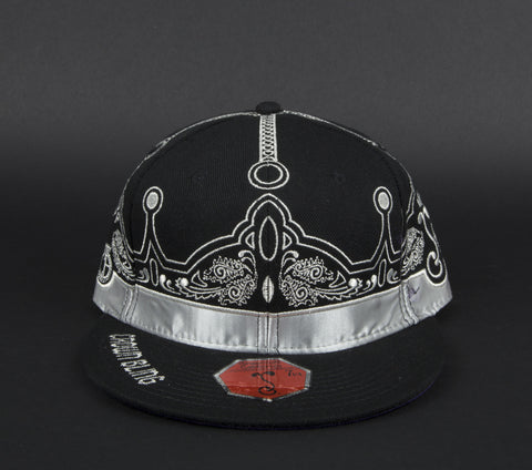 Crown Bling black fitted