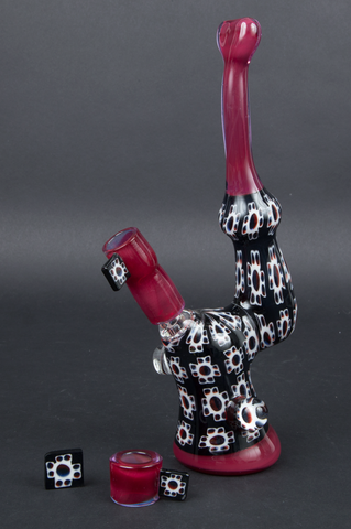 PIPER DAN RED MURRINE MINI BUBBLER SET