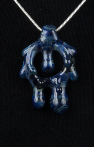 BEER GLASS DRIPPY BLUE PENDANT