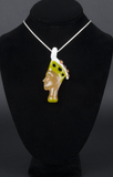 CLINTON ROMAN NEKFERTITI GLASS PENDANT