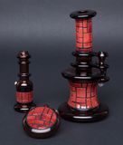 JUSTIN CARTER / ROOSTERS GLASS BRICK MINITUBE/CHILLUM/PENDANT SET