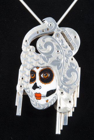 BKA / STROBEL / CAVER DAY OF THE DEAD SILVER PENDANT