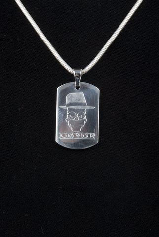 CAVER Bart stainless steel dog tag