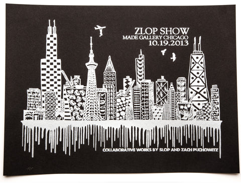 ZLOP POSTER (BLACK & WHITE)