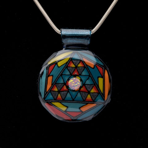 HELRAISER SACRED GEOMETRY PENDANT WITH OPAL