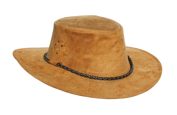 Cowboy Western Leather Hat Echuca Bullet with Patronen-Hutband