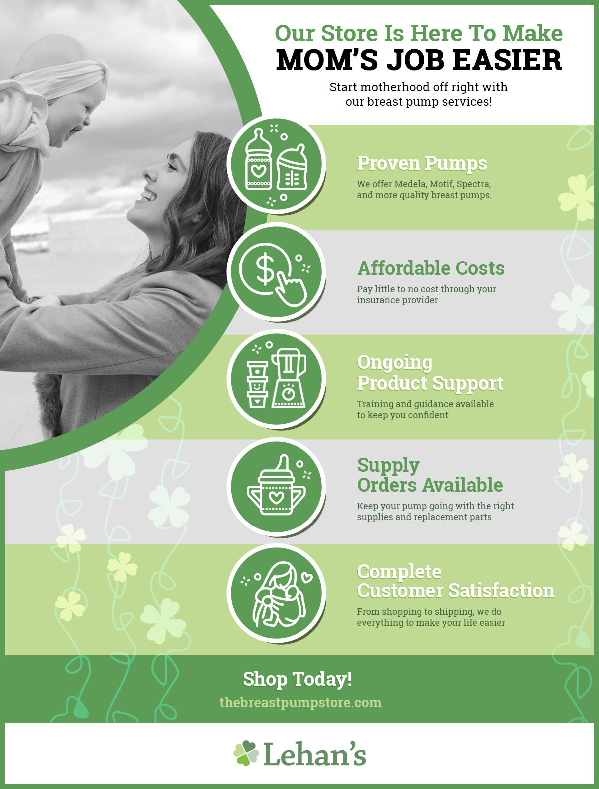 Infographic: Our Store Is Here To Make Mom's Job Easier