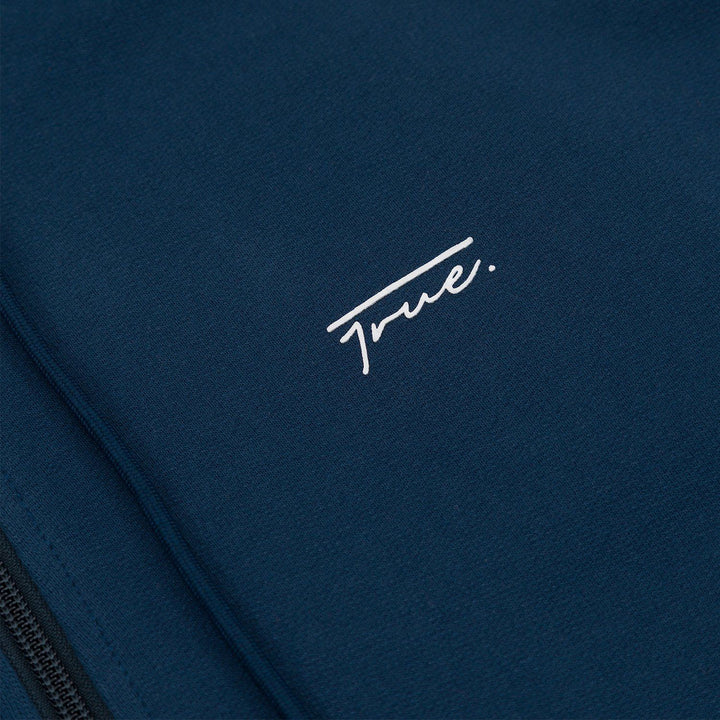True Zip Up Hoodie - Navy Blue