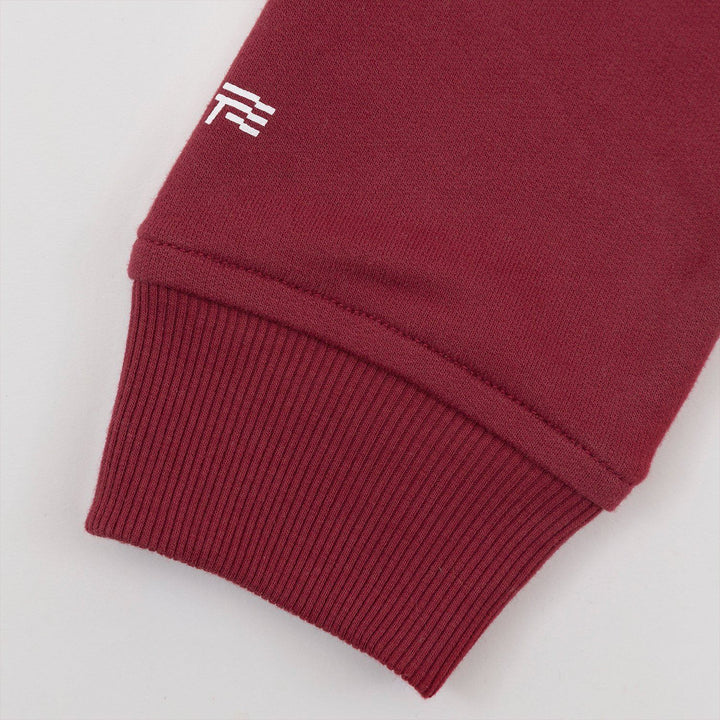 True Zip Up Hoodie - Red Wine
