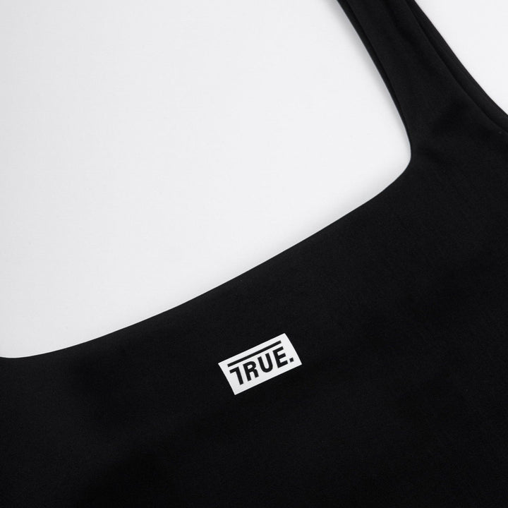 True Bodysuit Box Logo - Black (6098097242265)