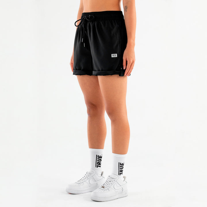 True Active Shorts Box Logo - Black