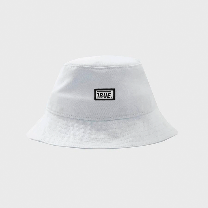 True Classic Bucket Hat Box Logo - White - TRUE.