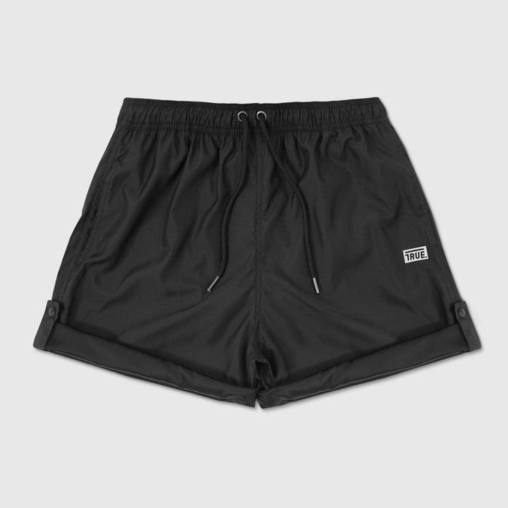 True Active Shorts Box Logo - Black - TRUE.