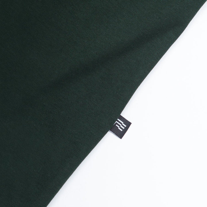 True Mock Neck Oversized T-Shirt - Pine Green (6144302514329)