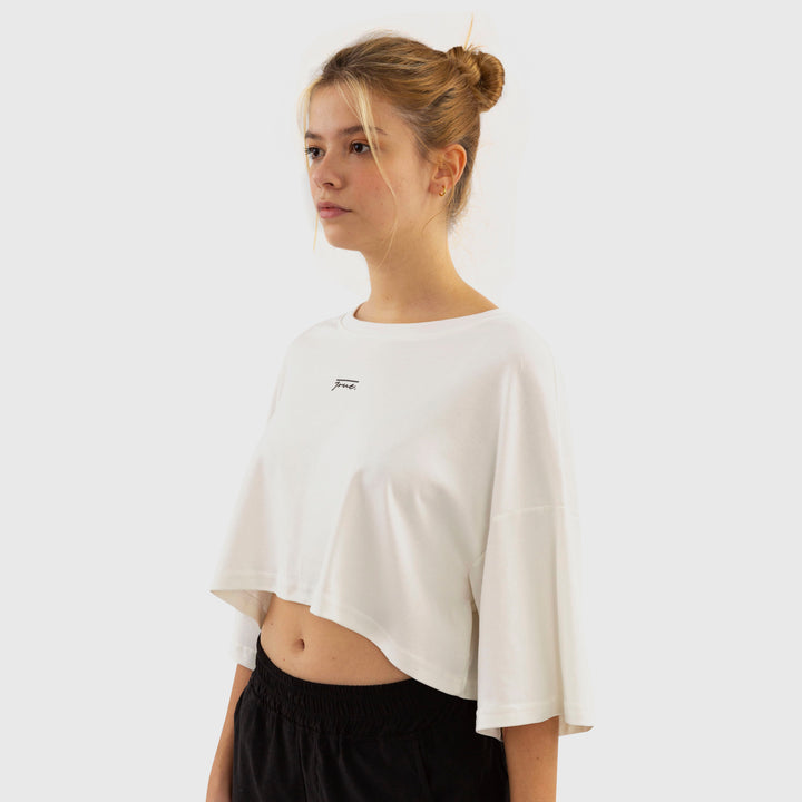 True Oversized Croptop - Vanilla