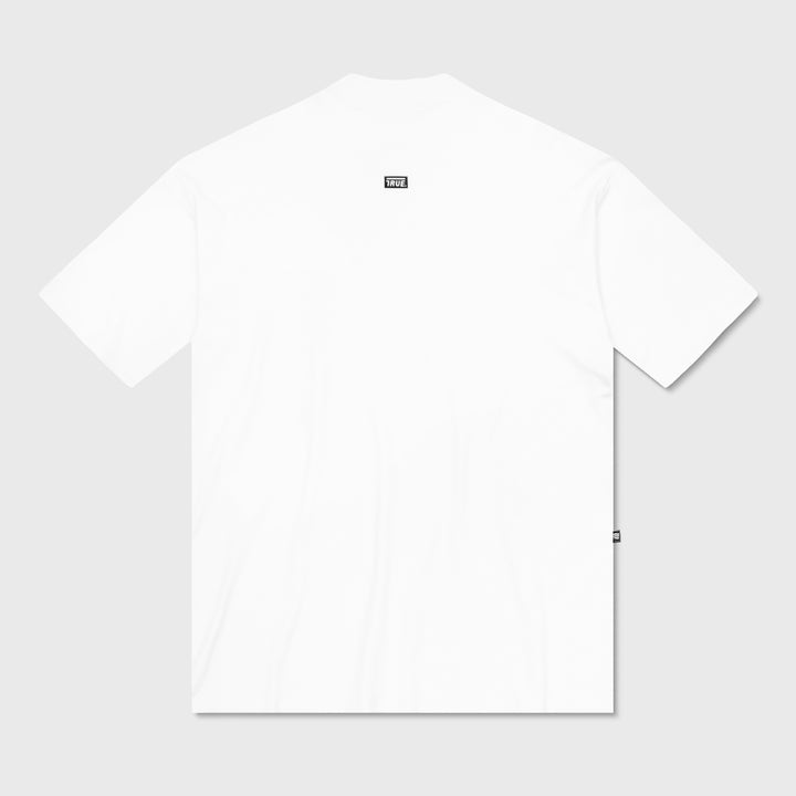 True Mock Neck Oversized T-Shirt - White