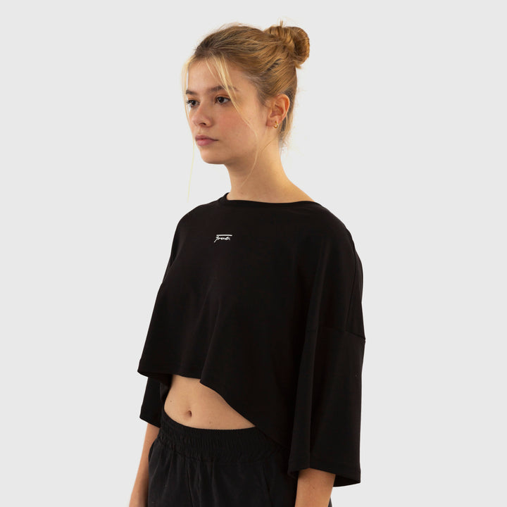 True Oversized Croptop - Black