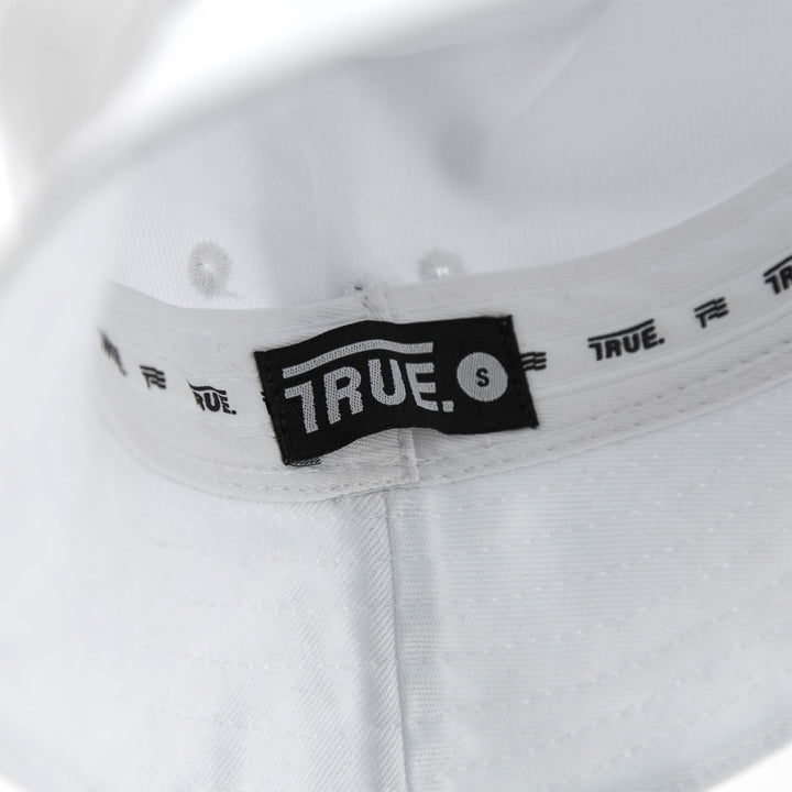 True White Classic Bucket Hat (Short Fit)