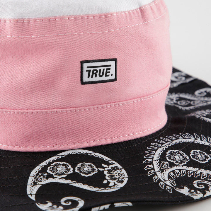 True Pink Paisley Fisher Hat - TRUE.