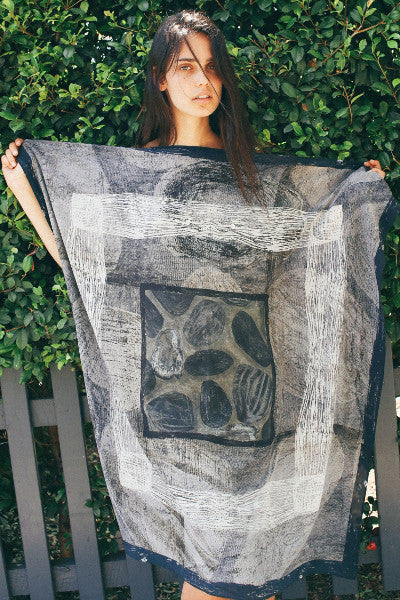 Vivien Haley's Natura Collection Oyster Shell Square Silk Scarf