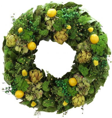 "18"" Lemon Sorbet Wreath"